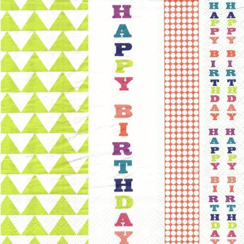 ペーパーナプキン(33)talking tables:(5枚)Happy Birthday(カラフル)-TA4