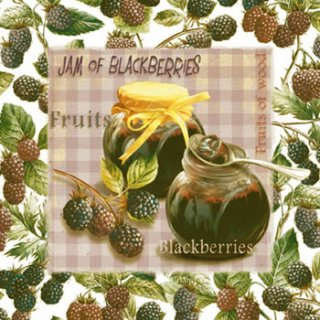 ペーパーナプキン(33)ti-flair:(5枚)Jam of Blueberries-TI102
