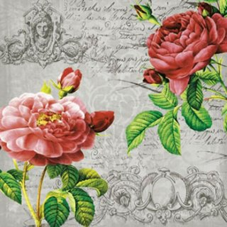 ペーパーナプキン(33)ti-flair:(5枚)Deux Roses Classique black-TI109