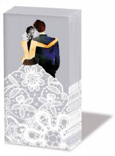 ペーパーナプキン sniff :Wedding Couple シルバー