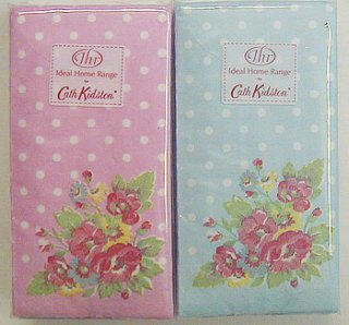 Cath Kidston ティッシュ(FOLK FLOWERS ピンク&ブルー各1個)