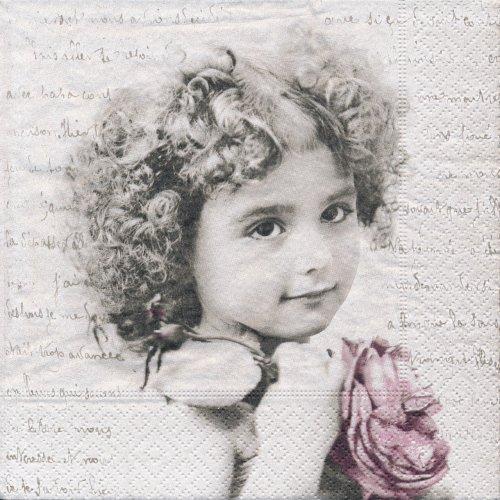 ペーパーナプキン(33)Sagen:(5枚)【s-1】フランスの少女