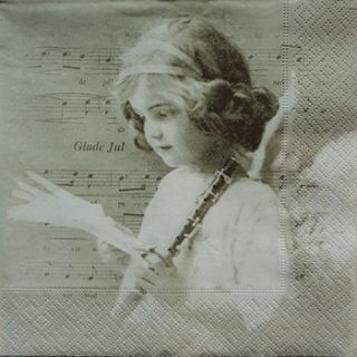 ペーパーナプキン(33)Sagen:(5枚)【s-12】楽器を持った天使