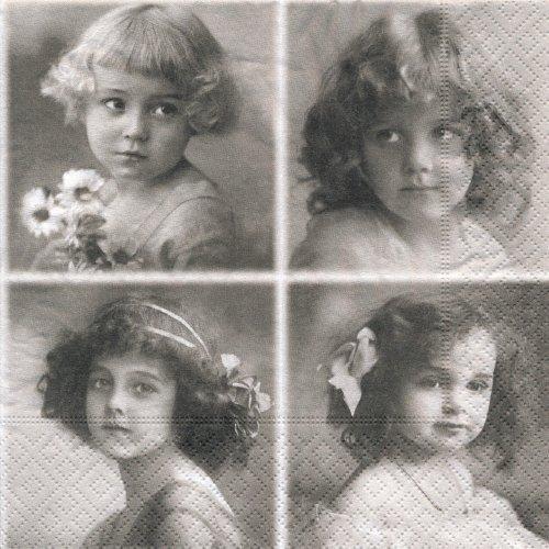 ペーパーナプキン(33)Sagen:(5枚)【s-15】四人の女の子たち