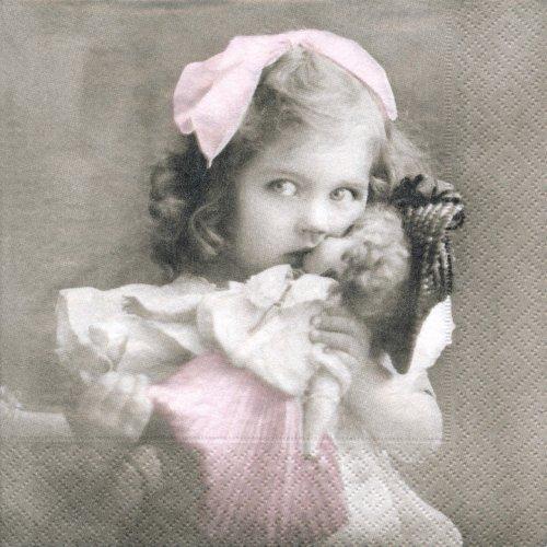ペーパーナプキン(33)Sagen:(5枚)【s-30】人形と女の子