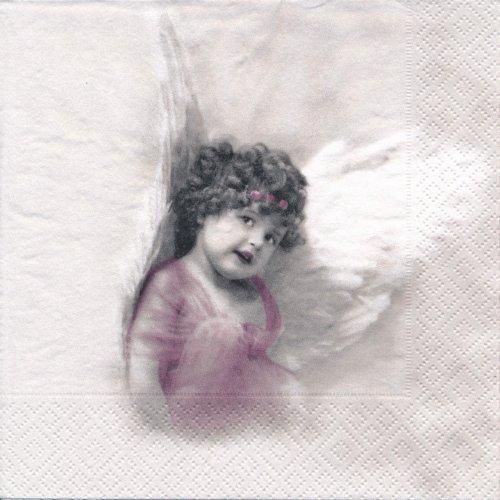ペーパーナプキン(33)Sagen:(5枚)【s-43】ピンクの天使