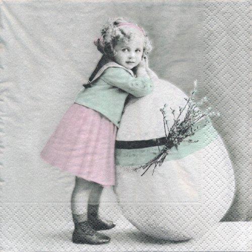 ペーパーナプキン(33)Sagen:(5枚)【s-44】イースターの女の子