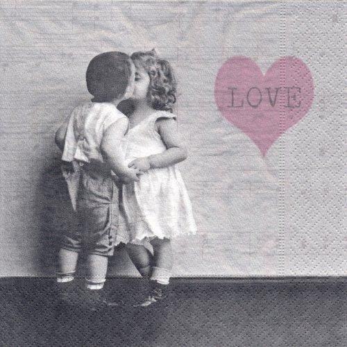 ペーパーナプキン(33)Sagen:(5枚)【46】キス LOVE
