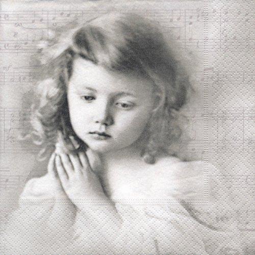 ペーパーナプキン(33)Sagen:(5枚)【56】祈る少女