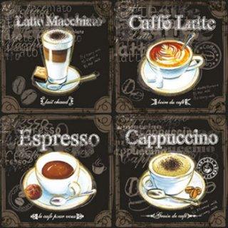 ペーパーナプキン(25)AMB:(5枚)TYPES OF COFFEE-AM15(25)