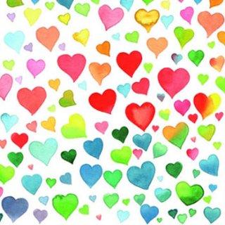 ペーパーナプキン(25)AMB:(5枚)Colourful Hearts Mix-AM31(25)