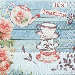 ペーパーナプキン(25)AMB:(5枚)Teatime-AM36(25)