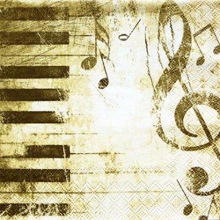 ペーパーナプキン(33)AMB:(5枚)ピアノ-AM42