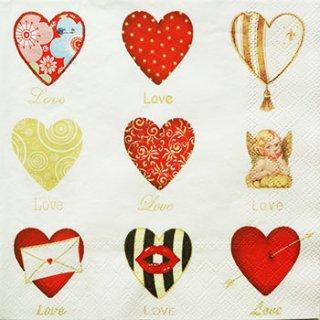 ペーパーナプキン(33)AMB:(5枚)LOVE-AM164