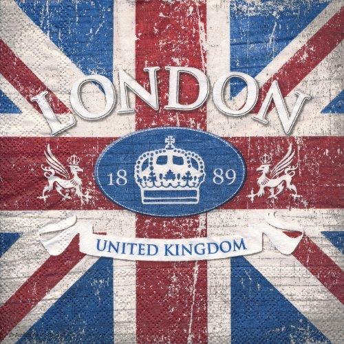 ペーパーナプキン(33)AMB:(5枚)LONDON TOWN-AM305