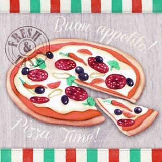 ペーパーナプキン(33)AMB:(5枚)Fresh Pizza-AM326