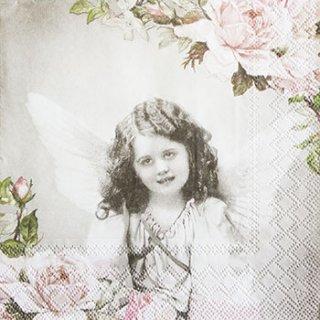 ペーパーナプキン(33)AMB:(5枚)ANGEL AND ROSES-AM363