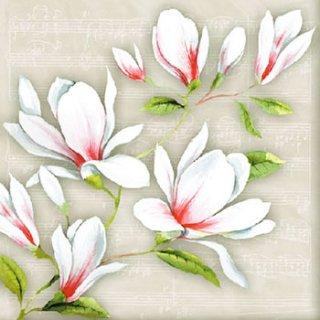 ペーパーナプキン(33)AMB:(5枚)Musical Magnolia-AM458