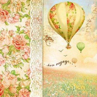 ペーパーナプキン(33)AMB:(5枚)Balloon Flight-AM463