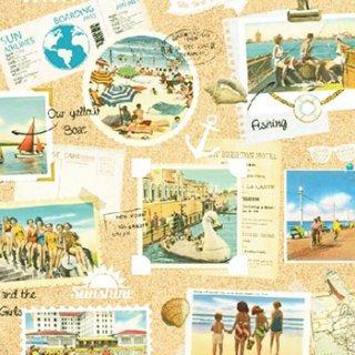 ペーパーナプキン(33)AMB:(5枚)Vacation Scrapbook-AM466
