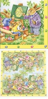 ペーパーナプキン(33)AMB:(5枚)Easter School-AM493
