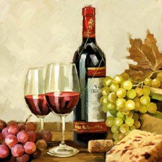 ペーパーナプキン(33)AMB:(5枚)Wine & Grapes-AM497