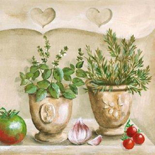 ペーパーナプキン(33)AMB:(5枚)Herbs Kitchen -AM514