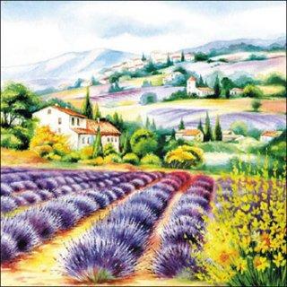 ペーパーナプキン(33)AMB:(5枚)Lavender Fields -AM518