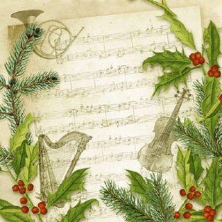 ペーパーナプキン(33)AMB:(5枚)Christmas Song -AM541