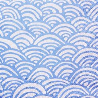 ペーパーナプキン(33)caspari:(5枚)Ranbow(blue)-CA68