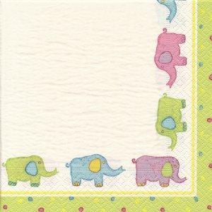 ペーパーナプキン(33)caspari:(5枚)Baby Quilt-CA98