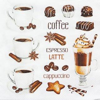 ペーパーナプキン(33)Daisy:(5枚)コーヒーカップとチョコレート-DA55
