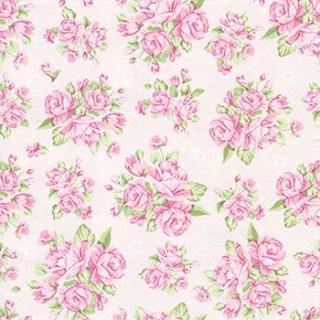 ペーパーナプキン(33)Daisy:(5枚)Rose on Pink Background-DA64