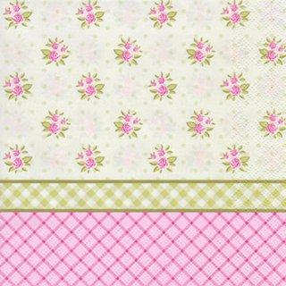 ペーパーナプキン(33)Daisy:(5枚)English Floral Wallpaper-DA66