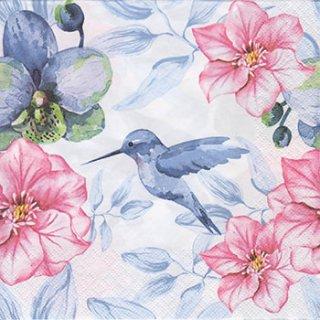 ペーパーナプキン(33)Daisy:(5枚)Blue Hummingbird-DA67