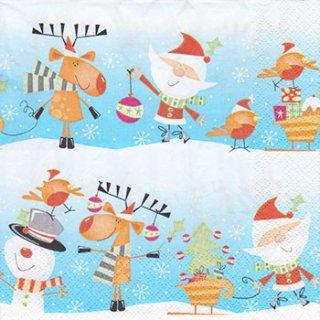 ペーパーナプキン(33)Daisy:(5枚)クリスマス-DA80