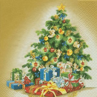 ペーパーナプキン(25)home:(5枚)クラッシッククリスマスツリー-HO19(25)