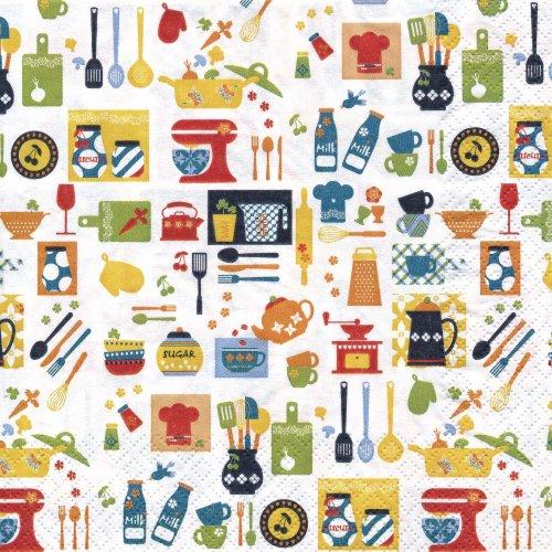 ペーパーナプキン(33)home:(5枚)キッチンミックス-HO10
