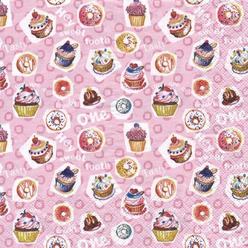 ペーパーナプキン(33)home:(5枚)Sweet Tooth(ピンク)-HO11