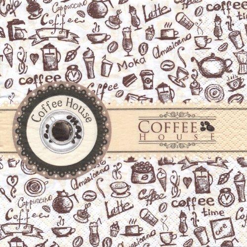 ペーパーナプキン(33)home:(5枚)Coffee House-HO17