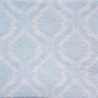 ペーパーナプキン(33)home:(5枚)ダマスク:Elegant ライトブルー-HO30