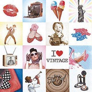 ペーパーナプキン(33)home:(5枚)I LOVE VINTAGE-HO128
