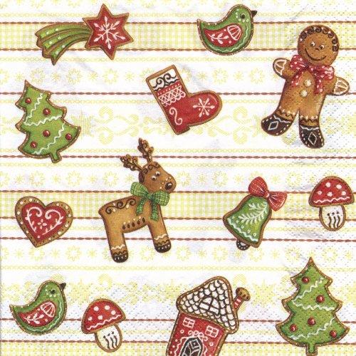 ペーパーナプキン(33)home:(5枚)Gingerbread-HO143