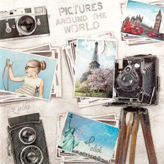 ペーパーナプキン(33)home:(5枚)Travelpictures-HO191