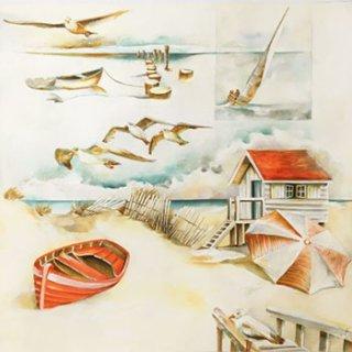ペーパーナプキン(33)home:(5枚)Sea Breeze-HO211