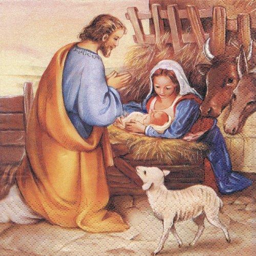 ペーパーナプキン(33)home:(5枚)Jesus is born-HO220