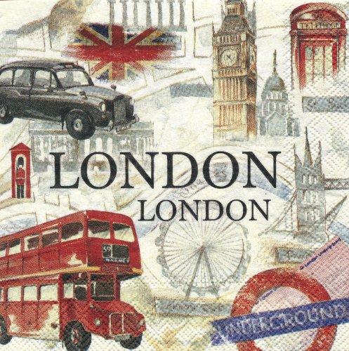 ペーパーナプキン(25)IHR:(5枚)LONDON SIGHTSEEING-IH100(25)