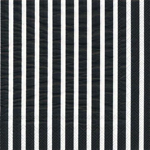 ペーパーナプキン(33)IHR:(5枚)STRIPE AGAIN(ブラック・ホワイト)-IH3