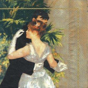 ペーパーナプキン(33)IHR:(5枚)ルノワール「都会のダンス」-IH86