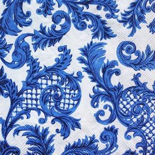 ペーパーナプキン(33)IHR:(5枚)SANS SOUGI(ホワイトブルー)-IH95